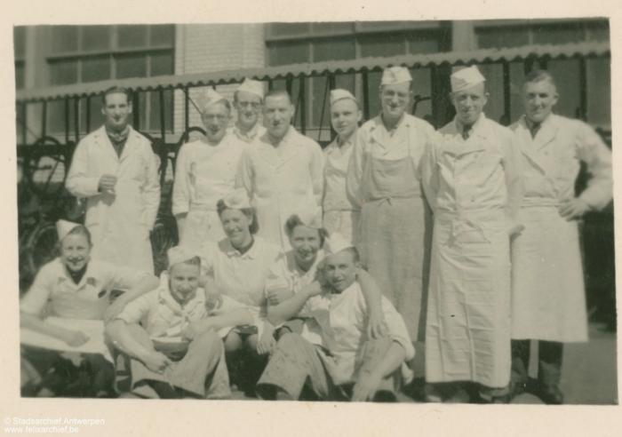 Gruppenfoto des Küchenpersonals