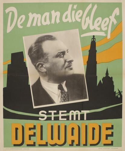 """Wahlplakat """"Stem Delwaide"""""""
