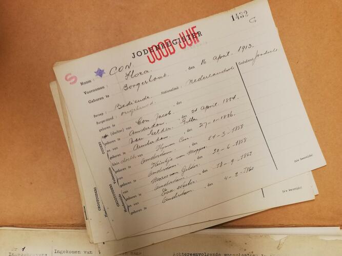 Aufnahme in das Judenregister